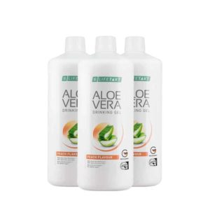 Aloe Vera Drinking Gel Peach 3 Pcs Set