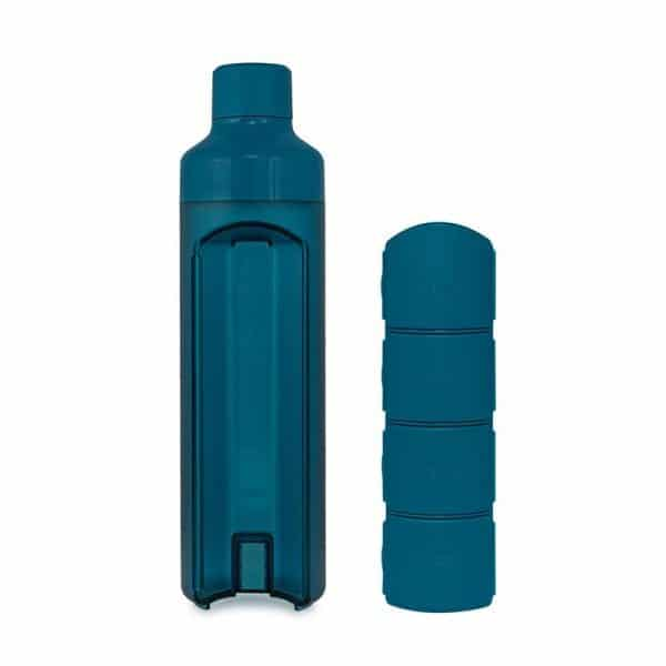 Yos Bottle Blue with 4 compartments