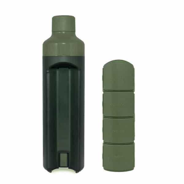Yos Bottle Green with 4 compartments