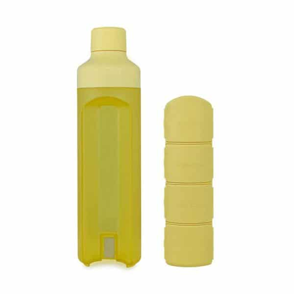 Yos Bottle Yellow with 4 compartments